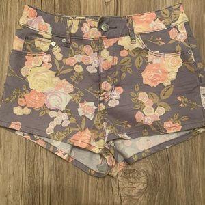Floral mini shorts